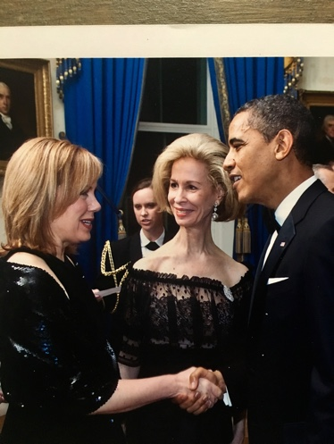 Ginger Hardage meeting Barack Obama